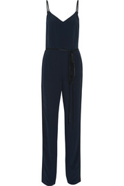 Rosa two-tone silk-crepe jumpsuit