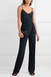rag & bone Rosa two-tone silk-crepe jumpsuit