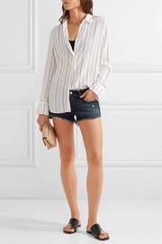 rag & bone Distressed cut-off denim shorts