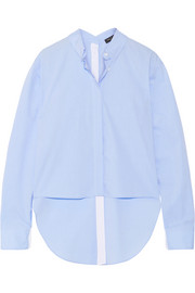 rag & bone Calder asymmetric cotton-poplin shirt