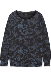 Max oversized printed French cotton-terry sweatshirt