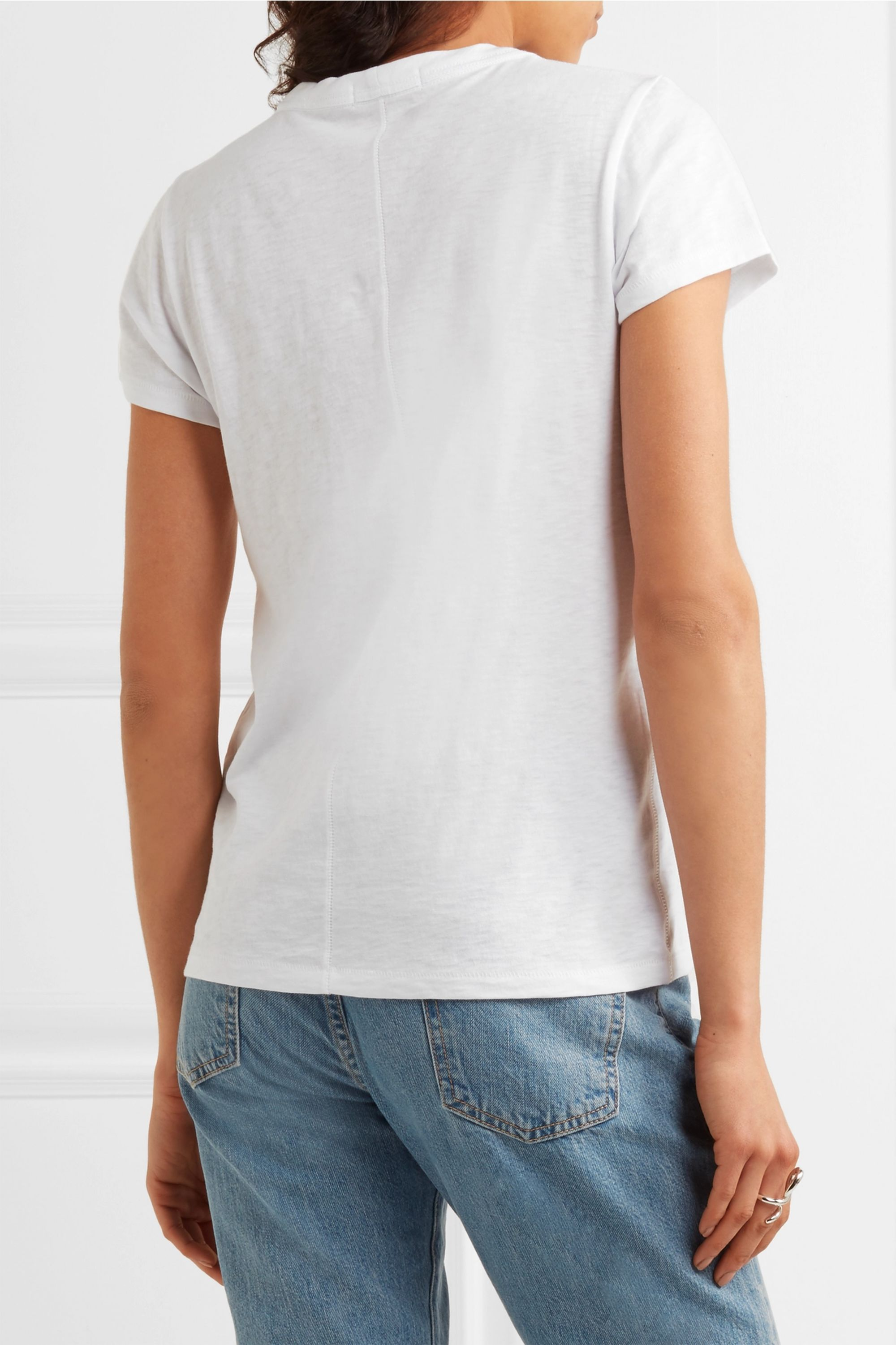 rag & bone The Tee slub cotton-jersey T-shirt