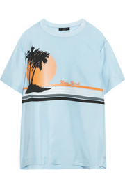 rag & bone Griffin printed silk crepe de chine T-shirt