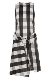 rag & bone Brighton layered gingham poplin dress