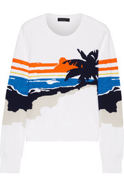 Nicki stretch-cotton intarsia sweater