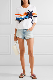 rag & bone Nicki stretch-cotton intarsia sweater