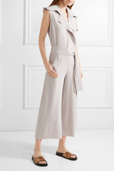 Outlet Professional Cheap Price For Sale Wrap-effect Stretch-jersey Jumpsuit - Taupe Norma Kamali Cost Outlet Brand New Unisex Best Supplier V1o0ndY
