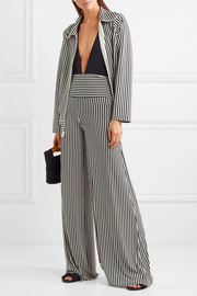 Norma Kamali Striped stretch-jersey jacket