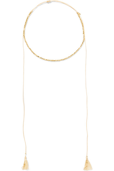 Chan Luu Tasseled Gold-plated Necklace O1sYHp