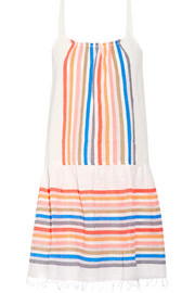 LemLem Candance striped cotton-blend gauze mini dress