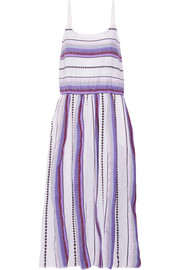 LemLem Adia striped cotton-blend gauze midi dress