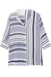 LemLem Yeshi striped cotton-blend gauze shirt