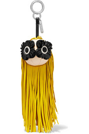 Fendi Fringed leather bag charm