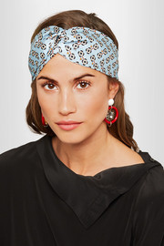 Fendi Printed silk-satin headband