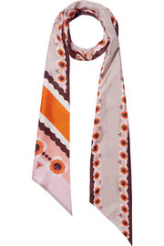 Fendi Reversible printed silk-twill scarf