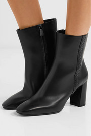 Bottega Veneta Intrecciato leather ankle boots