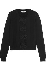 Fendi Appliquéd cotton cardigan