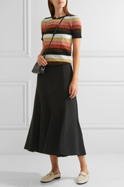 Fendi Metallic striped wool-blend sweater