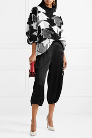 Fendi Cropped satin cargo pants