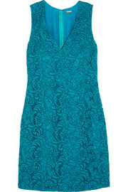 Adam Lippes Corded cotton-blend lace mini dress