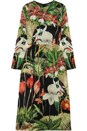 Adam Lippes Printed silk-satin dress