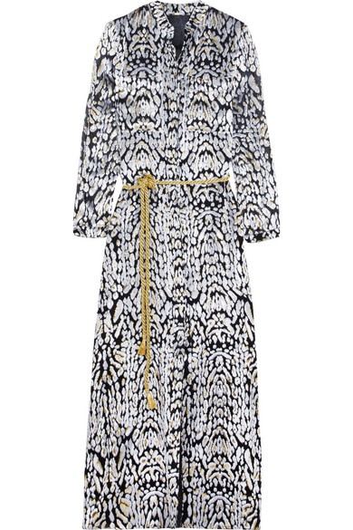 Adam Lippes Woman Belted Metallic Fil Coup qi9Oy