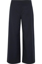 Adam Lippes Cropped wool wide-leg pants