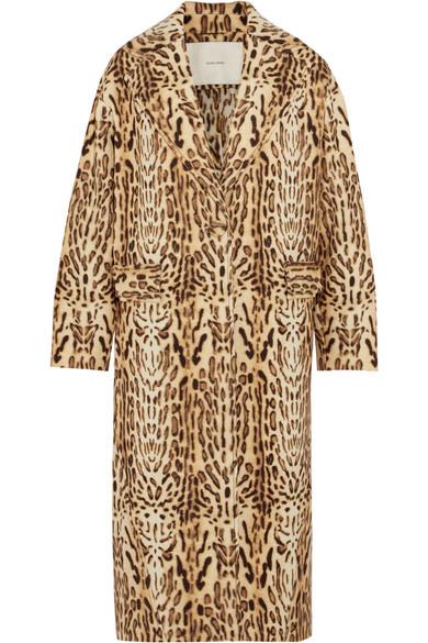 Adam Lippes - Leopard-print Wool-gabardine Coat - Leopard print