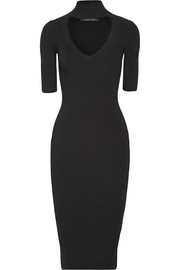 Cushnie et Ochs Cutout ribbed stretch-knit dress