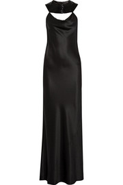 Cushnie et Ochs Lily bead-embellished silk-charmeuse gown