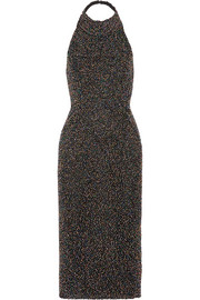 Cushnie et Ochs Piper beaded cotton-mesh midi dress