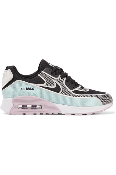 NIKE Air Max 90 Ultra 2.0 Embroidered Mesh, Canvas And Rubber Sneakers