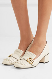 Gucci Marmont fringed leather pumps