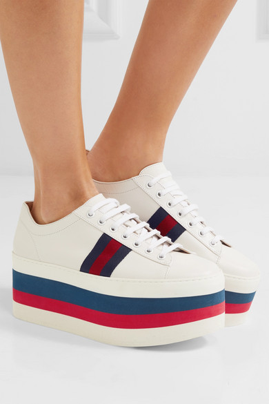 Gucci Leather platform sneakers hToOvs