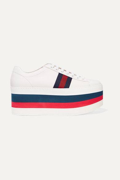 gucci leather platform sneakers net a porter com