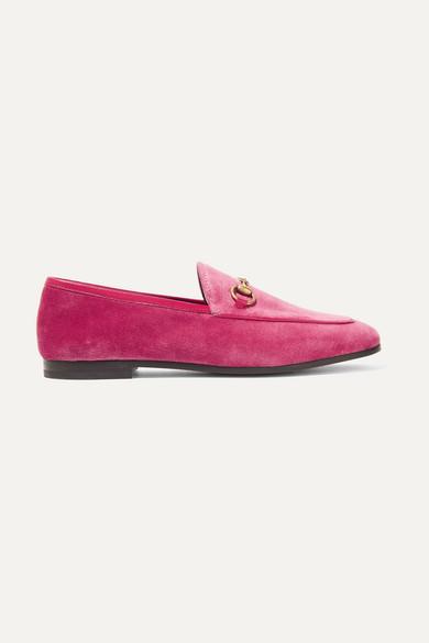 Gucci Jordaan Loafers aus Samt mit Horsebit-Detail und Lederbesatz Besuchen Neuen Günstigen Preis Mc8j3T