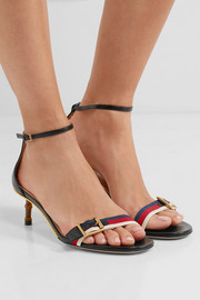 Gucci Bamboo-trimmed leather sandals