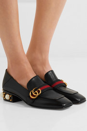 Gucci Marmont embellished leather loafers
