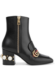 Gucci Marmont embellished leather ankle boots