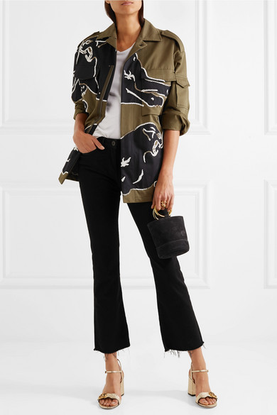 d6336aff002d Gucci. Marmont embellished cracked-leather sandals