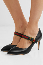 Sylvie leather point-toe pumps