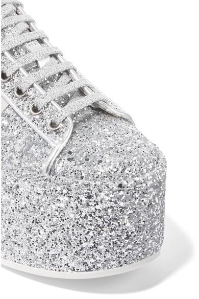 Billig Verkauf Gut Verkaufen Gucci Plateau-Sneakers aus Leder mit Glitter-Finish Erhalten Zum Verkauf YJ4CpX7g