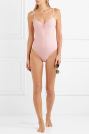 Eberjey So Solid Sasha ruched swimsuit