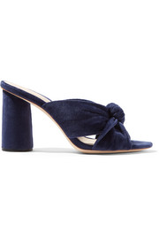 Coco knotted velvet mules