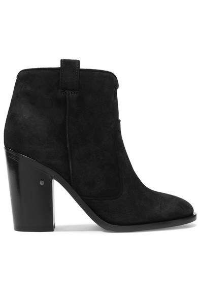 Belen Suede Ankle Boots, Black