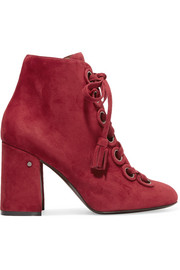 Paddle lace-up suede ankle boots