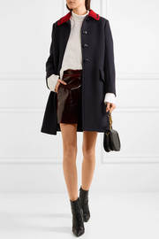 Miu Miu Two-tone wool-gabardine coat