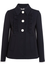 Miu Miu Broderie anglaise-trimmed twill jacket