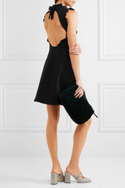 Miu Miu Open-back cady mini dress
