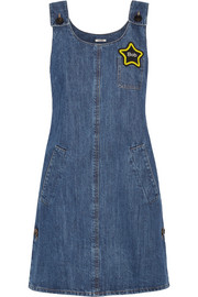 Miu Miu Appliquéd denim mini dress